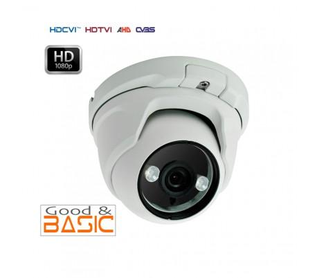 Caméra dôme HDCVI 1080P 2MP en 2.8 mm infrarouge 20 mètres