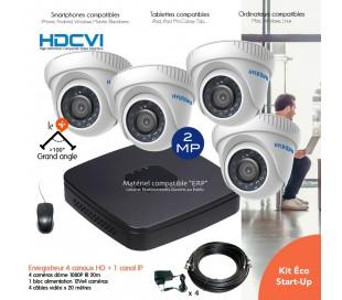 Kit de vidéo surveillance 1080P avec 4 dômes infrarouges 40m