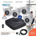 Kit de vidéo surveillance 1080P avec 4 dômes infrarouges 20m