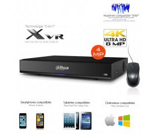 Enregistreur XVR 4 canaux Full 1080P + 2 IP, sortie SPOT,  entrées et sorties alarme
