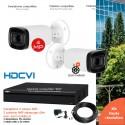 Kit  vidéo surveillance 2 caméras extérieures 4MP vision nocturne 60m