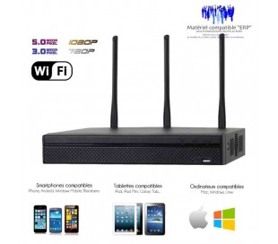 Enregistreur IP WiFi de vidéo surveillance pour  4 caméras IP