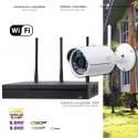 Système de vidéo surveillance WiFi 3MP avec 2 caméras extérieures