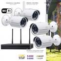 Système de vidéo surveillance 3MP WiFi 4 caméras extérieures