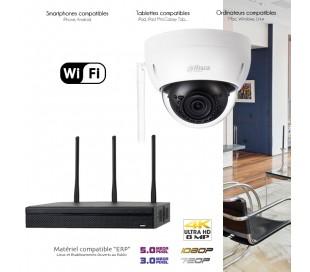 Système WiFi de vidéo surveillance avec 1 caméra dôme