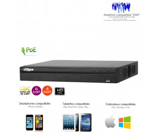 NVR de video surveillance 4 canaux PoE full 1080P