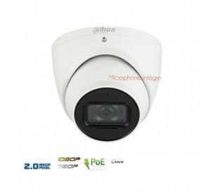 Caméra dôme IP 2MP avec microphone intégré, vision nuit à 50m