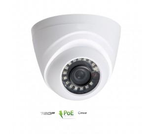Caméra dôme IP, focale 2,8mm 1MP IR 20 mètres