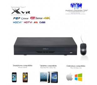 Enregistreur vidéosurveillance 8 canaux 4K/8MP HDCVI + 8 canaux IP