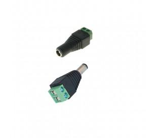 Connecteur alimentation pour caméras de surveillance - Paire mâle/femelle