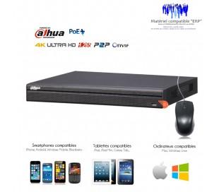 Enregistreur NVR 24 canaux 12MP, 4K, 8 MP 16 ports PoE+