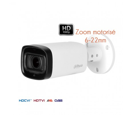 Caméra de surveillance 1080P HDCVI  focale 6-22 mm vision nuit à 80 mètres