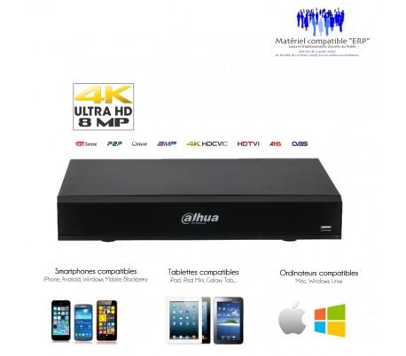 Enregistreur vidéo surveillance 4K/8MP 4 canaux + 4 IP