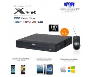Enregistreur vidéo surveillance 8 canaux 1080P + 4 canaux IP 6MP