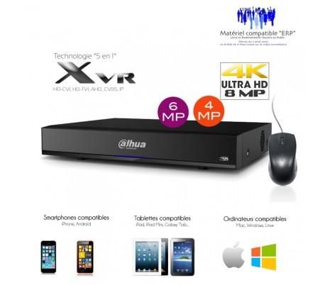 Enregistreur HDCVI 8 canaux 4K/8MP + 8 canaux IP 4K/8MP