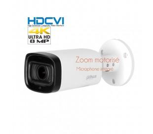 Caméra de surveillance 8MP, zoom motorisé avec autofocus