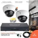 Kit vidéo surveillance 4K / 8MP avec 2 caméras infrarouges 30m
