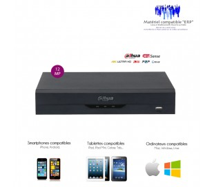 NVR de video surveillance 4 canaux, taille mini jusqu'à 4K