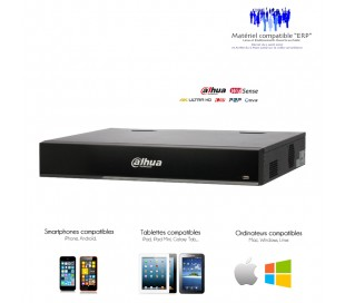 Enregistreur NVR 32 canaux 12MP avec 16 ports PoE