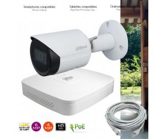 Système de video surveillance IP avec 1 caméra extérieure