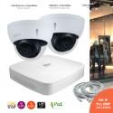 Système video surveillance IP avec 2 caméras dômes