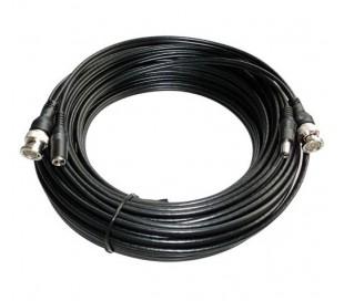 Câble coaxial, connecteurs BNC + alimentation, 20 mètres