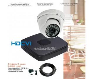 Kit de vidéo surveillance HDCVI avec 1 caméra dôme
