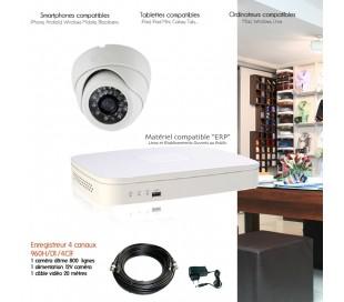 Kit de vidéo surveillance avec 1 caméra dôme