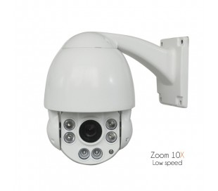 Caméra de vidéo surveillance motorisée, zoom 10x de 3,8 à 38mm, fixation murale