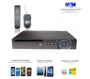 DVR 8 canaux professionnel, Full D1, sortie SPOT, supporte 2 disques durs pour redondance