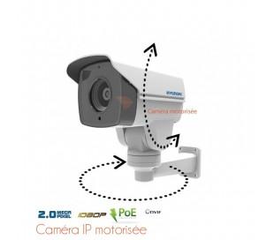 Caméra de surveillance IP motorisée, zoom 5.1 à 51mm, port PoE