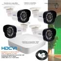 Kit de vidéo surveillance HD 4 caméras extérieures 720P