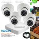 Kit de vidéo surveillance HD avec 4 caméras dômes 720P