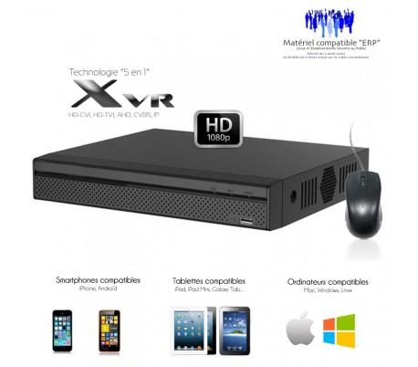 XVR 8 canaux Full 1080P + 4 caméras IP, sortie SPOT, entrées / sorties alarme